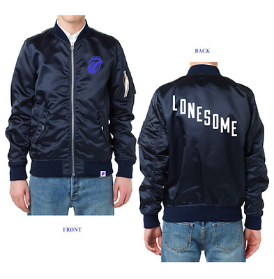 NWT Rolling Stones Blue And Lonesome Bomber Jacket Size M $225