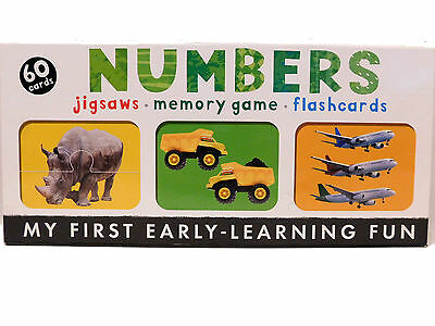 Numbers Memory Game Flash Cards Jigsaws Early Learning VGC 100% Complete