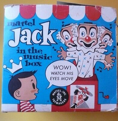 Matty Mattel toy 1950s 1960s Jack in the Music Box in original box