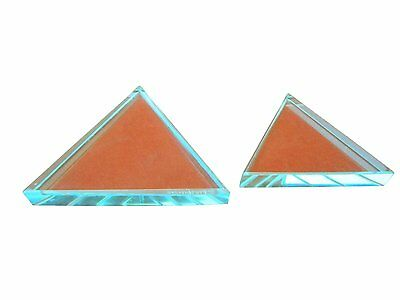 Ajax Scientific Glass Refraction Equilateral Prism Block 75mm Lengthx10mm Thick