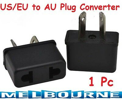 1 x USA US EU ADAPTER PLUG TO AU AUS AUSTRALIA TRAVEL POWER CONVERTOR PLUG Pcs