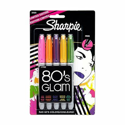 Sharpie 80's Glam Limited-Edition Fine-Point Markers, 5-Pack (30631)