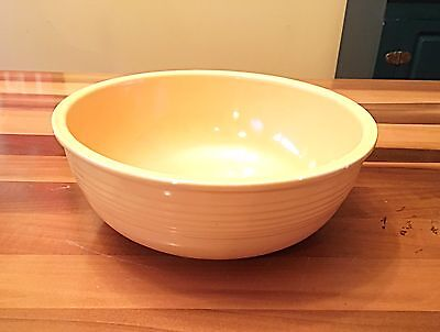 Rare *VINTAGE* Fiesta Ware UNLISTED SALAD BOWL Yellow (1940-1943) 9 5/8""