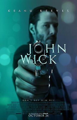 JOHN WICK TEAL 11X17 Movie Poster collectible NEW CLASSIC