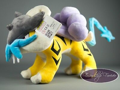 "Pokemon Raikou ライコウ Raikou Plush Pokemon 12""/30 cm High Quality UK Stock"