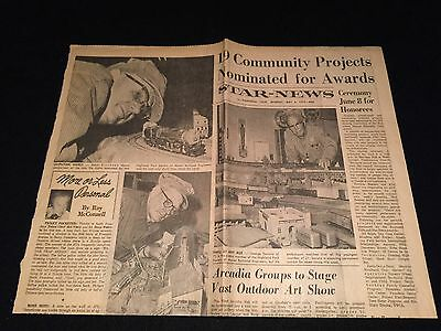 c.1972 PASADENA STAR NEWS ARTICLE Hobbyists Build City MODEL RAILROADERS
