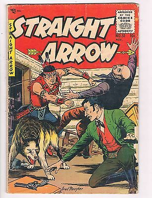 Straight Arrow #51 GD/VG ME Comic Book Western 1955 DE7