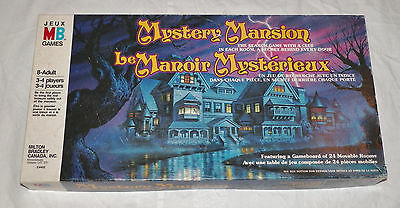 MYSTERY MANSION Board Game Complete Vintage 1984 Milton Bradley French/English