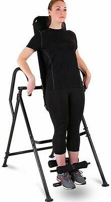 Inversion Table Back Trainer Robust Iron Comfortable Padding Building Muscle New