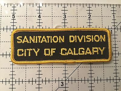 Canada Alberta Patch City Of Calgary Sanitation Division