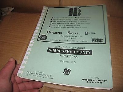 Vintage Minnesota Sherburne  County Atlas & Plat book 1972