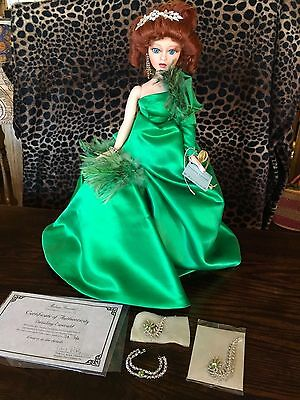 "Madame Alexander Dazzling Emerald Limited Edition 21""Porcelain Doll MIB w/ COA"