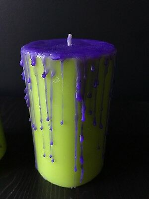 Large Monster drip scented candle - pagan witchcraft goth wicca