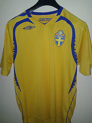 Sweden Football Seleccion Umbro Shirt L Jersy Trikot Camiseta Maglia Jersey