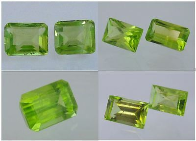 Natural Peridot Gemstone Loose Octagon & Rectangle Cut Best Color Many sizes