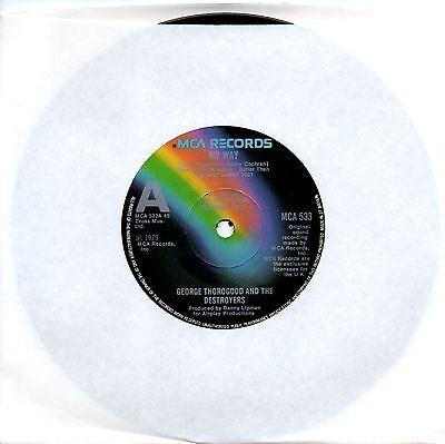 "George Thorogood And The Destroyers - My Way - Rare Promotional 7"" Vinyl Single"