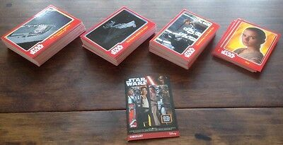 TOPPS STAR WARS JOURNEY TO THE FORCE AWAKENS + CHECKLIST  Base set of 160 cards