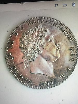 George 111 Crown 1819 Lix Nice Unc Fabulous Coin Make Offer