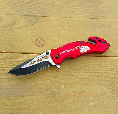 Navaja Mini ALBAINOX FIRE FIGHTER Roja Knife Messer Coltello Couteau