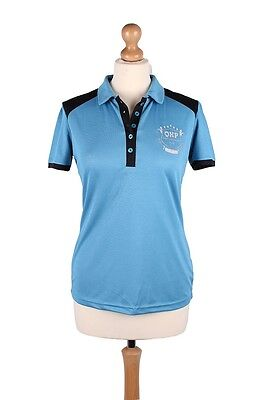 QHP Special Edition 'Claire' Polo Shirt Light Blue Size 10