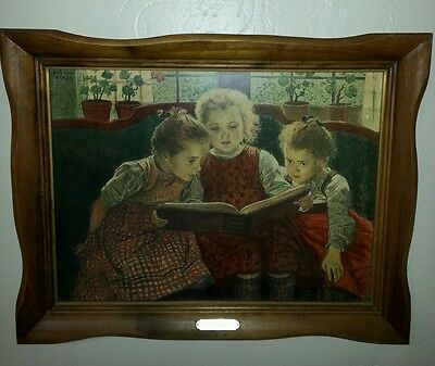 "Vintage Walther Firle ""Fairy Tale"" 18""x 24"" Print With Original Frame."