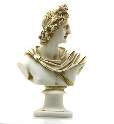 APOLLO Bust Head Greek Roman God of Music & Light Statue Sculpture 5.91΄΄