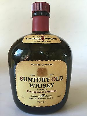 Japanese Whiskey Suntory OLD 700ml Empty bottle Collectible JAPAN F/S