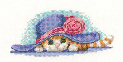 Heritage Crafts Peter Underhill Little Darlings Cross Stitch Kit  Cat In Hat