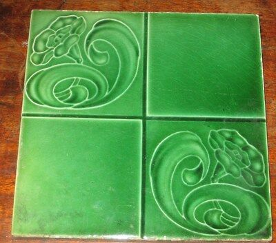 Green Art Nouveau English Vintage Tile