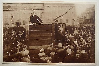Rare Russia Revolution Postcard of Lenin and Trotsky - later falsified by Stalin