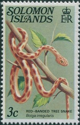 Solomon Islands 1979 SG389A 3c Red-banded Tree Snake MNH
