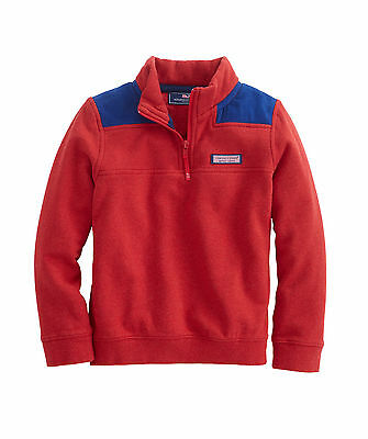 Nwt New Boys Sz L (16) Vineyard Vines Cord Shoulder Shep Shirt Red Blue