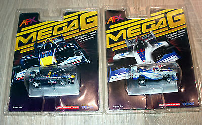 2 x TOMY MEGA G CHAMP CAR DP01 NEW UNUSED SEALED PACKAGE 9067 & 9066 VERY RARE !