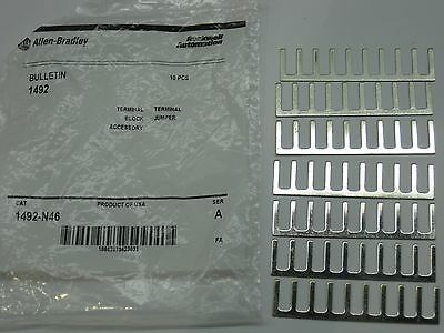 Allen Bradley terminal jumper strip bar 1492-N46 new accessory 10 pole