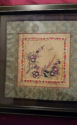 Collectible Framed Chinese Silk Embroidery FINAL PRICE NOT GOING LOWER