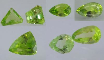 Natural Peridot Gemstone Loose Pear & Trillion cut gems Best color Many sizes