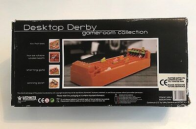 DESKTOP DERBY - battery operated horse racing game (Fully Working) - circa 1980s