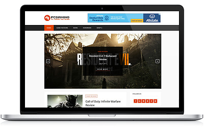 PC Gaming Business Website with Integrated Affiliate Shop - For Sale