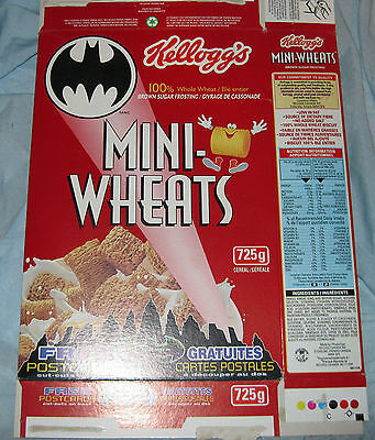Kellog's Mini Wheats (BATMAN FOREVER)  empty cereal box (flattened)