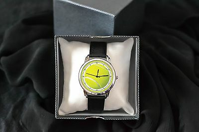 New Tennis Court Standard Size Steel Leather PRO Ball Watch For Tennis Player