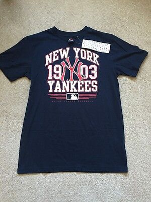 New York Yankees Top NY shirt NBL Top Medium BRAND NEW Team Top Majestic