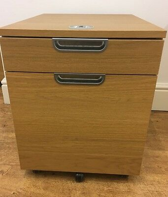 IKEA Galant Pedestal Office Drawer Unit with drop file storage lockable