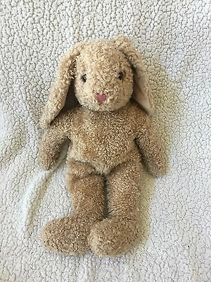 "Vintage TY 1991 Large 17"" Stuffed Plush CURLY BUNNY Rabbit Tan Beige Fur EUC"