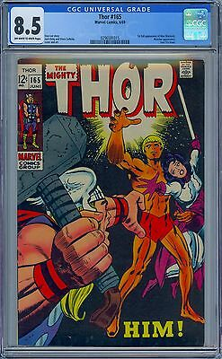 THOR #165 - CGC 8.5 OW-WP VF+ First WARLOCK HIM