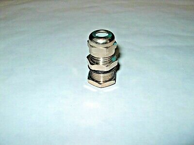 "Metal Cable Gland 3/8"" Thread For 1/4"" Cable Od *new*"