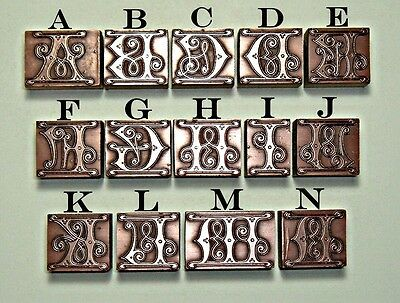 """""""arts And Crafts"""" Ginger Alphabet Letters."""