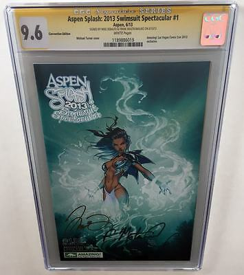 Aspen Splash 2013 Swimsuit Spectacular #1 Convention CGC 9.6 SS 2x Signed