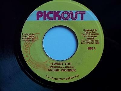 """ARCHIE WONDER I Want You 7"""" vinyl Sound Clip in Listing"""