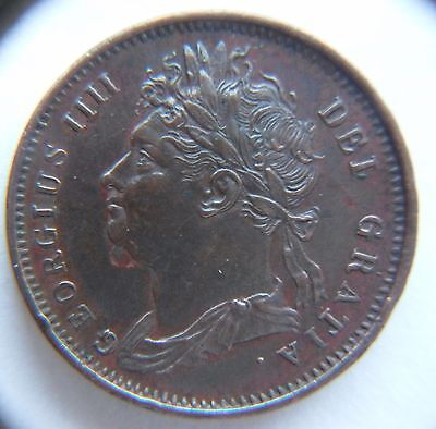 very high grade  1821 (DOT) George IIII farthing excellent coin