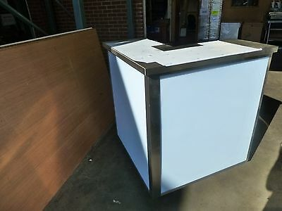 Mobile Cocktail Bar Station, Stainless Steel, corner section